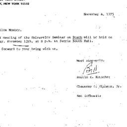 Announcements, 1975-11-04. ...