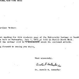 Announcements, 1976-06-04. ...