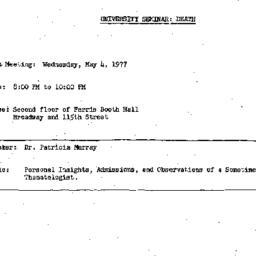 Announcements, 1977-05-04. ...
