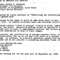 Minutes, 1980-05-14. Death,...