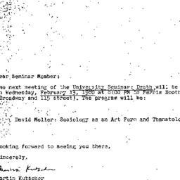 Announcements, 1980-02-13. ...