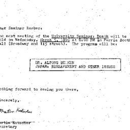 Announcements, 1980-03-05. ...