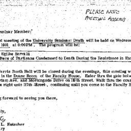 Announcements, 1981-05-06. ...