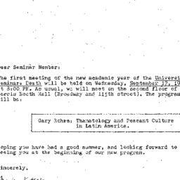 Announcements, 1980-09-17. ...