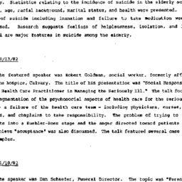 Minutes, 1982-11-10. Death,...
