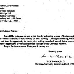 Correspondence, 1993-03-15....