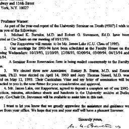 Correspondence, 1994-05-13....