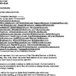 Announcements, 2000-04-13. ...