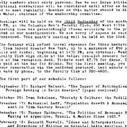 Announcements, 1971-09-03. ...