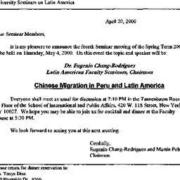 Announcements, 2000-04-20. ...