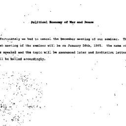 Correspondence, Political E...