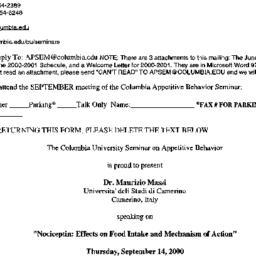 Announcements, 2000-09-14. ...