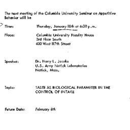 Announcements, 1973-01-18. ...