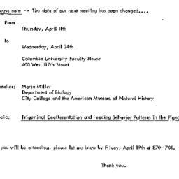 Announcements, 1974-04-24. ...
