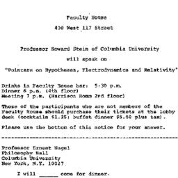 Announcements, 1973-09-14. ...