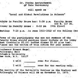 Announcements, 1973-10-26. ...