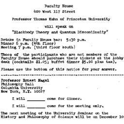 Announcements, 1973-11-26. ...