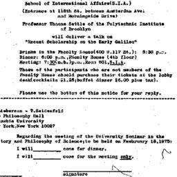 Announcements, 1975-01-31. ...