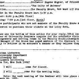 Announcements, 1975-12-06. ...