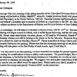 Announcements, 1998-02-20. ...