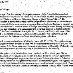 Announcements, 1999-04-22. ...