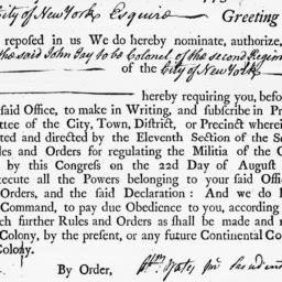 Document, 1775 November 03