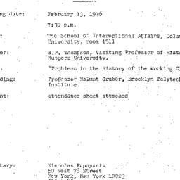 Minutes, 1976-02-13. Twenti...