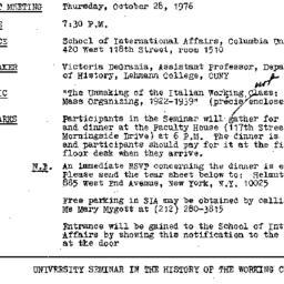 Announcements, 1976-10-28. ...