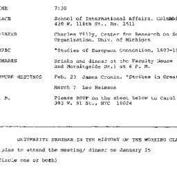 Announcements, 1978-01-25. ...