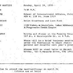Announcements, 1978-04-24. ...