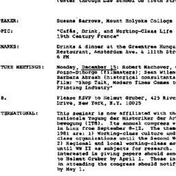 Announcements, 1980-11-13. ...
