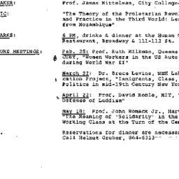 Announcements, 1982-01-27. ...