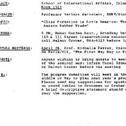 Announcements, 1983-03-24. ...