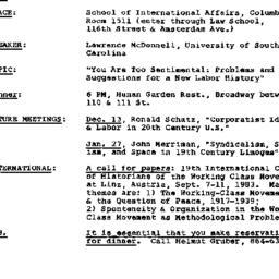 Announcements, 1982-11-18. ...