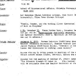 Announcements, 1983-11-22. ...