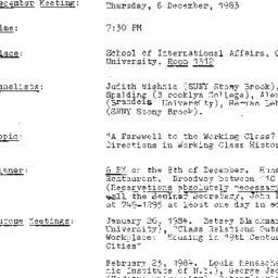 Announcements, 1983-12-08. ...