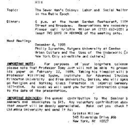 Announcements, 1988-11-06. ...