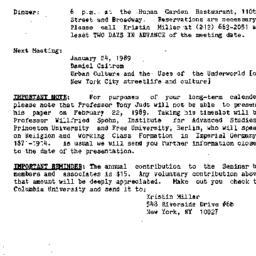 Announcements, 1988-12-06. ...