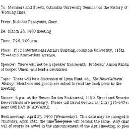 Announcements, 1990-02-24. ...