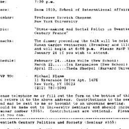 Announcements, 1993-01-05. ...