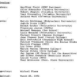 Minutes, 1993-03-22. Twenti...