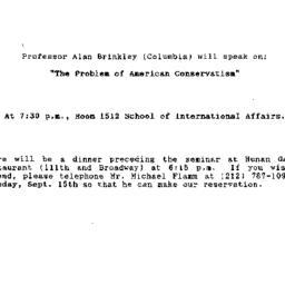 Announcements, 1992-09-16. ...
