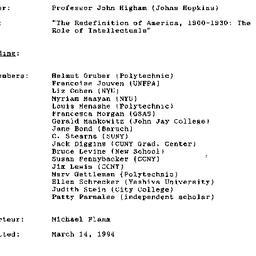 Minutes, 1994-03-01. Twenti...