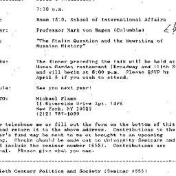Announcements, 1994-04-06. ...