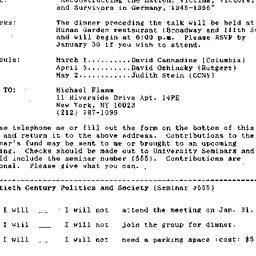 Announcements, 1995-01-10. ...