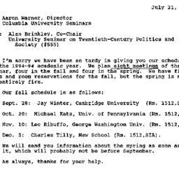 Correspondence, 1995-07-21....