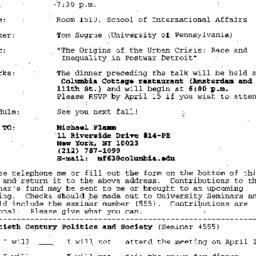 Announcements, 1996-04-01. ...