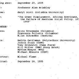 Minutes, 1995-09-20. Twenti...