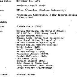 Minutes, 1995-11-14. Twenti...