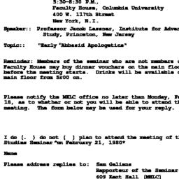 Announcements, 1980-02-21. ...